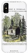Thoreau Walden, 1875 IPhone Case