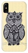 Three Owls On A Branch IPhone Case