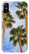 Three Palms Palm Springs IPhone Case