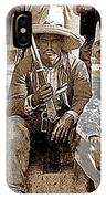 Three  Revolutionary Soldiers With Rifles Unknown Mexico Location Or Date-2014 IPhone Case
