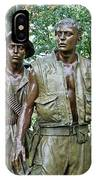 Three Soldiers Statue IPhone Case
