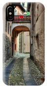 Tight Alley With A Bridge IPhone Case
