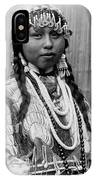 Tlakluit Indian Woman Circa 1910 IPhone Case by Aged Pixel
