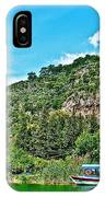 Tourboat Stops By Ancient Tombs In Daylan-turkey  IPhone Case