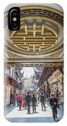 Traditional Shopping Area In Shanghai China IPhone Case