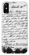 Treaty Of Alliance, 1778 IPhone Case