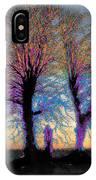 Trees Aglow IPhone Case