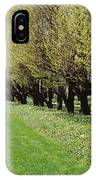 Trees Along A Walkway In A Botanical IPhone Case