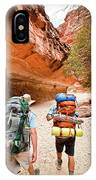 Two Friends Hiking Through The Grand IPhone Case