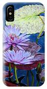 Two Purple Lilies IPhone Case