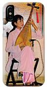 Two-stringed Lute Player At Wedding Ceremony Show In Binh Quoi Village-vietnam  IPhone Case