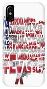 United States Typographic Map Flag IPhone Case