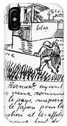 Van Gogh Letter, 1888 IPhone Case