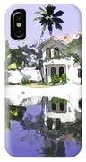 View Of The Cottages And Lagoon Water In Alleppey IPhone Case