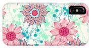 Vintage Flower Pattern Print For IPhone Case