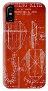 Vintage Folding Kite Patent From 1892 IPhone Case