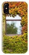 Wall Overgrown With Fall Colored Vine And Ivy IPhone Case
