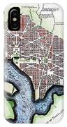 Washington, Dc, Plan, 1792 IPhone Case