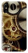 Watch Mechanism. Close-up IPhone Case