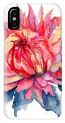 Watercolor Illustration With Beautiful Flowers  IPhone Case