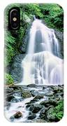 Waterfall In A Forest, Moss Glen Falls IPhone Case