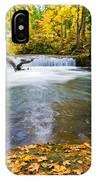 Waterfall On Whatcom Creek IPhone Case