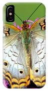 White Peacock Butterfly Anartia IPhone Case