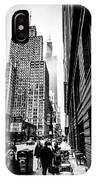 Willis Tower In The Clouds - Black And White IPhone Case