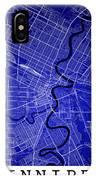 Winnipeg Street Map - Winnipeg Canada Road Map Art On Colored Ba IPhone Case
