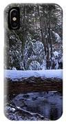 Winter Forest Stream IPhone Case