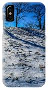 Winter Scinery In The Mountains With Bllue Sky And Sunshine IPhone Case