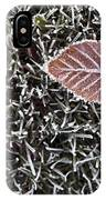 Winter With Frosted Leaf On Frozen Grass IPhone Case