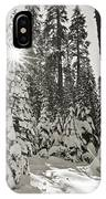 Winter Wonderland - Badger Pass In Yosemite National Park IPhone Case