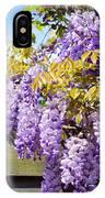 Wisteria Garden 8 IPhone Case