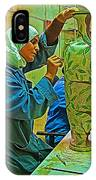 Woman Artisan At Mosaic School In Madaba In Jordan  IPhone Case
