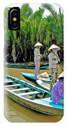 Women Waiting For Passengers On Mekong River Canal-vietnam IPhone Case