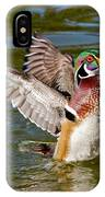 Wood Duck Drake Flapping Wings IPhone Case