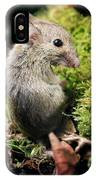 Wood Mouse IPhone Case