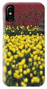 Worker Carrying Tulips IPhone Case