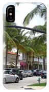 Worth Ave Palm Beach Fl Facing West IPhone Case