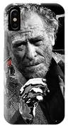 Writer Charles Bukowski On Tv Show Apostrophes In September 1978-2013 IPhone Case