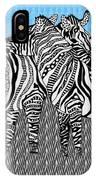 Zebra Love 19 IPhone Case