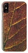 Dogwood Leaf Backlit IPhone Case