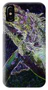 Abstract Cayman Iguana IPhone Case