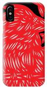 Ailurophile Bird Red White Black IPhone Case