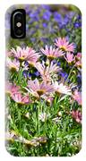 Background Of Colorful Flowers IPhone Case