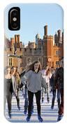 Ice Skating At Hampton Court Palace Ice Rink England Uk IPhone Case