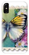 14 Cent Butterfly Stamp IPhone Case