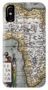 1584 Map Of Mysterious Africa IPhone Case