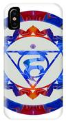 16 Lotus Petals Vishuddha Abstract Chakra Art By Omaste Witkowsk IPhone Case
